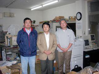 別府竹製品協同組合の岩尾さん、毛利さんと